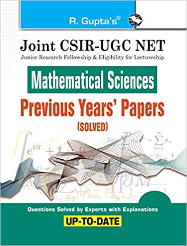 Buy Joint CSIR-UGC NET: Mathematical Sciences - Previous