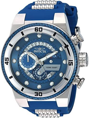 Invicta Men s S1 Rally Stainless Steel Quartz Watch with Silicone Strap, Two Tone, 33 Model 24223