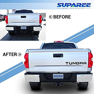 SUPAREE TUNDRA 2014-2020 Tailgate Insert Letters - 3D Raised Tailgate Decal Letters - Matte Black: Automotive