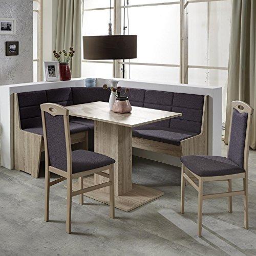 Eckbank Eckbankgruppe Essgruppe FLORENZ Essecke Tisch 2 Stühle Sonoma Eiche