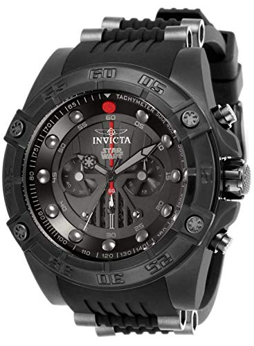 Amazon.com: Invicta Star Wars Darth Vader Chronograph Black Dial Silicone Mens Watch 26495 : Watches