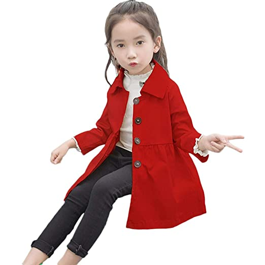 7cf61afbf Amazon.com  Tronet Kids Baby Girls Autumn Coat Fashion Pure Color ...