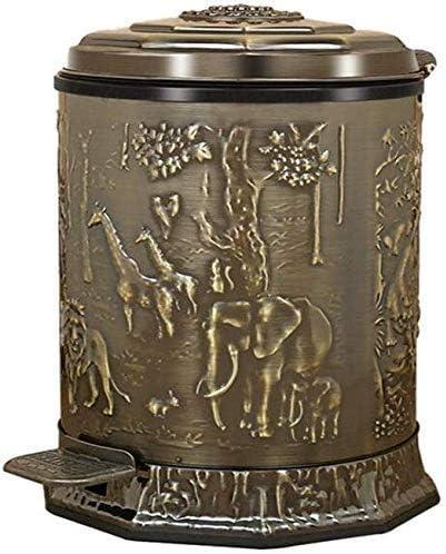 ゴミ箱ゴミ箱オフィスゴミ箱キッチン多機能ペダルビンレストランバー装飾ゴミ箱10L