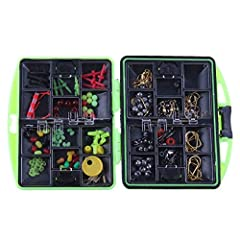 100 Pcs Set Fly Fishing Tackle Accessories Fishing Lead Ball Bearing Swivels Interlock Snap Float Connector Fishhooks Note: The colors deviation might differ due to different monitor settings. We provide you with the best product and service,...
