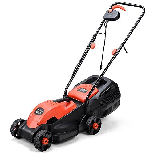 Goplus 14-Inch 12 Amp Lawn Mower w/Grass Bag...