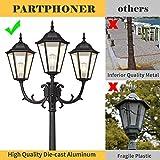 PARTPHONER Outdoor Lamp Post Light