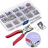 200 Sets Snap Fasteners Kit Tool, Metal Snap