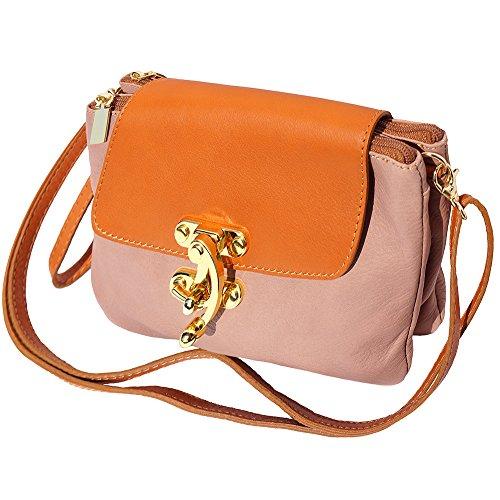Véritable Rose Market 9601 Pochette Cuir Leather En Antique cognac Florence 0aIB4w6qyZ
