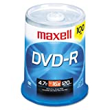 Maxell® - DVD-R Discs, 4.7GB, 16x, Spindle, Gold, 100/Pack - Sold As 1 Pack - Share and preserve files and memorable moments.