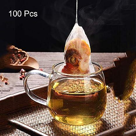 FDGBCF 100 unids Desechables Bolsas de Filtro de té con ...
