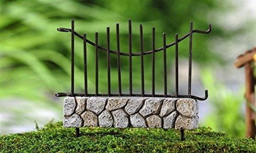 Miniature Cobblestone Wire Fairy Garden Fence Panel Mini Dollhouse Accessory