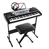 Joy K-02 54-Key With LCD Screen Electronic Keyboard Starter Pack for Beginners with Microphone,Headphone,Stand,Stool,and Power Supply