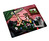 Home of Greyhound 4 Dogs Playing Poker Art Portrait Print Woven Throw Sherpa Plush Fleece Blanket (54x38 Tapestry)