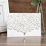 50pcs paper laser cut bronzing wedding baby shower invitation cards with butterfly hollow favors invitation cardstock