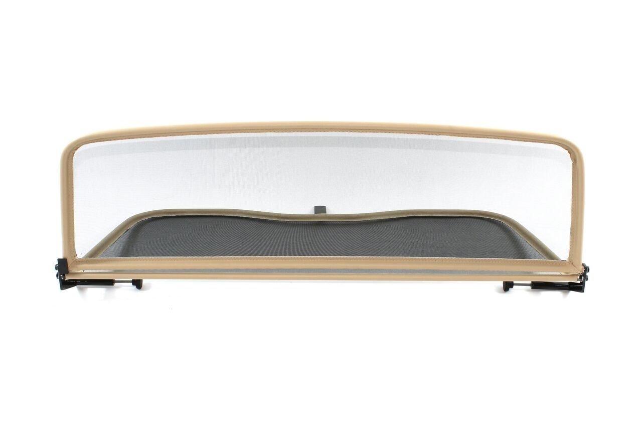 Frangivento pieghevole beige con chiusura rapida per Volkswagen New Beetle 2002-2010 | Deflettore aria | Deflettore del vento | Paravento per decappottabili GermanTuningParts