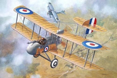 DE HAVILLAND AIRCO DH.2 BRITISH FIGHTER BIPLANE WWI 1/32 RODEN ()