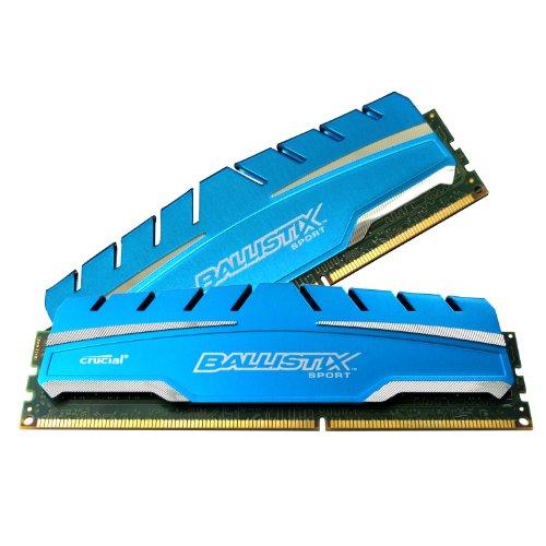 Ballistix BLS2K4G3D18ADS3 Sport XT 8GB Kit 4GBx2 DDR3 1866 MT/s PC3-14900 CL10 at 1.5V UDIMM 240-Pin Memory