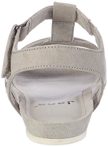 Jana Women's 28604 Wedge Heels Sandals, Grey (LT. Grey 204), 7