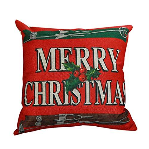 Merry Christmas Print Pillowcase,Han Shi Couch Cushion Cover