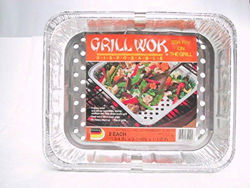 Durable Disposable Aluminum BBQ Grill Toppers/Grill Woks (60) by Durable Packaging