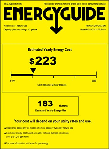 Rinnai RL94iN Natural Gas Tankless Water Heater, 9.4 Gallons Per Minute by Rinnai (Image #1)