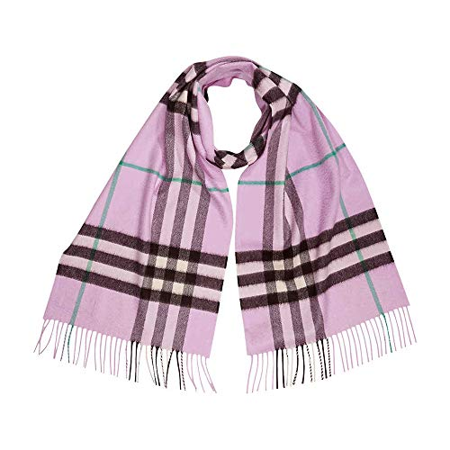 Burberry Classic Vintage Check Cashmere Scarf- Pale Heather (Vintage Burberry Scarf)
