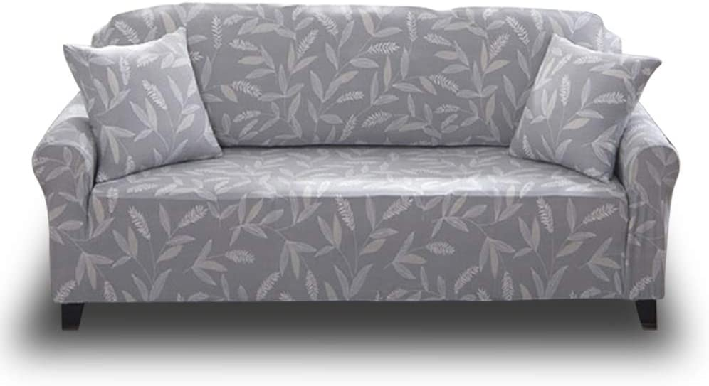 4 Seater Sofa for 88-114, Pattern #55 HOTNIU Stretch Sofa Slipcover Floral Printed Loveseat Couch Covers Polyester Spandex 4 Seat Couch Slipcovers Furniture Protector Cover