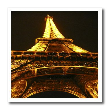 3dRose ht_3160_3 Eiffel Tower Iron on Heat Transfer for White Material, 10 by 10-Inch