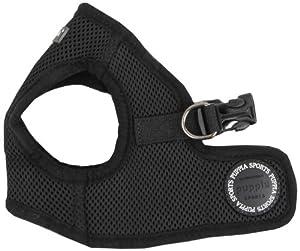 Puppia Soft Vest Dog Harness - Black - Medium
