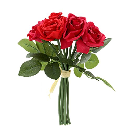 9pcs-high-quality-artificial-blooming-rose-silk-flowers-romantic-red