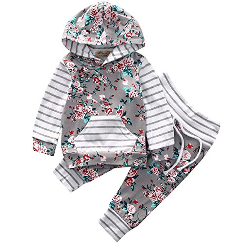 honeys Outfit Flower Hoodies Striped product image