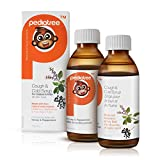 Pediatree Children's Cough and Cold Syrup; All-Natural Organic Formula With Antioxidants Elderberry & Holy Basil. Kid-Friendly Honey & Peppermint Flavour. Infant-safe. 150mL Bottle.