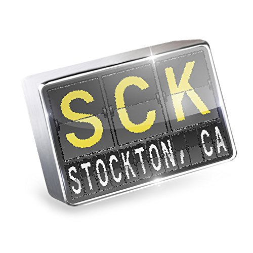 Floating Charm SCK Airport Code for Stockton, CA Fits Glass Lockets, - Ca Glass Stockton