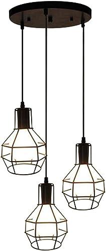 BAYCHEER HL421945 Industrial Vintage Retro LOFT style Small hob Cage Multi Light Pendant Lamp Fixture 3 Light Pendant Light