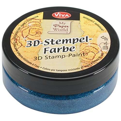 3d Stamp Paint 50ml-Turquoise-Metallic