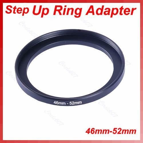 """Kar-Acces - 1Pc""""Metal 46mm-52mm Step Up Lens Filter Ring 46-52 mm 46 to 52 Stepping Adapter"""