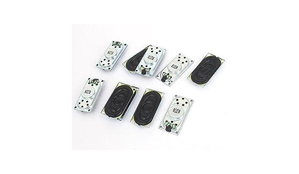 Amazon.com: eDealMax 2W 8 Ohm Metal del rectángulo imán Caso interno del altavoz del amplificador 12 piezas: Electronics