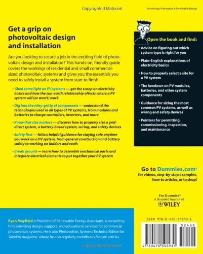 photovoltaic design and installation for dummies pdf