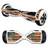 MightySkins Protective Vinyl Skin Decal for Hover Board Self Balancing Scooter Mini 2 Wheel x1 Razor wrap Cover Sticker Vintage Flag