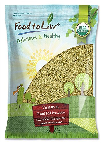 (Organic Rye Berries by Food to Live (Whole Wheat Grain, Non-GMO, Kosher, Raw, Bulk Seeds, Product of the USA) — 5 Pounds)