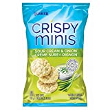 Quaker Crispy Minis Sour Cream and Onion Flavour Rice Chips (Pack of 12)