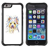 TIKTAKTOK CASE Apple Iphone 6 - Yorkshire Terrier Brussels Griffon Dog - Rugged Armor Slim Protection Case Cover Shell