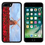 MSD Premium Apple iPhone 7 Plus Aluminum Backplate Bumper Snap Case Image ID 24880281 Christmas star red poinesettia garden and wind turbine flower