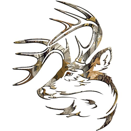 Legendary Whitetails Truck Buck Window Decal God's Country Camo Large
