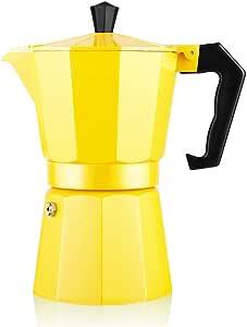 TAMUME Espresso Cafetera de Aluminio Moka Express (Amarillo): Amazon.es: Hogar