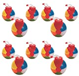 12 - BEACH BALL Pool Party CUPS with straws