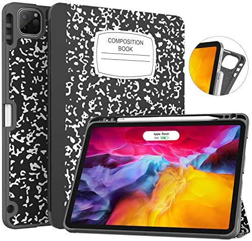 Soke New iPad Professional 11 Case 2020 & 2018 with Pencil Holder – [Full Body Protection + Apple Pencil Charging + Auto Wake/Sleep], Delicate TPU Again Cowl for 2020 iPad Professional 11 inch(E book Black)
