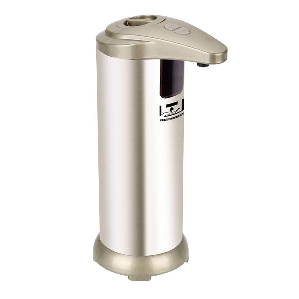 Desktop Desktop soap Dispenser Kitchen Sink Hand soap Bottle Automatic Sensor soap Dispenser Bathroom soap Dispenser (Color : Champagne Gold, Size : 7.519cm) by Personal Care Product Dispensers