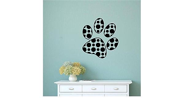 Polka Dot Paw Print Vinyl Wall Decal Sticker Graphic Handmade
