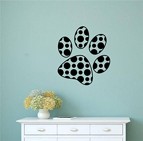 photograph about Decal Application Instructions Printable titled : Polka Dot Paw Print Vinyl Wall Decal Sticker